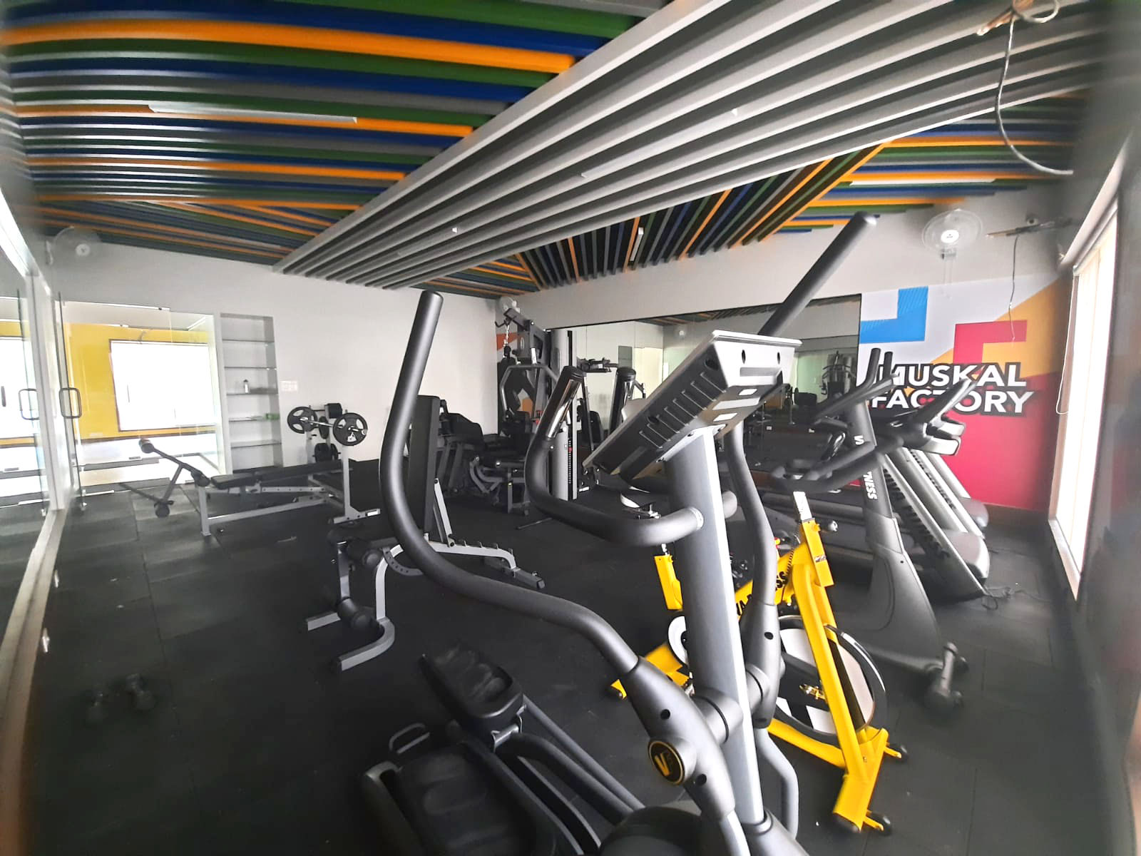 ISMS MBA college Pune hostels provide gym facility for students
