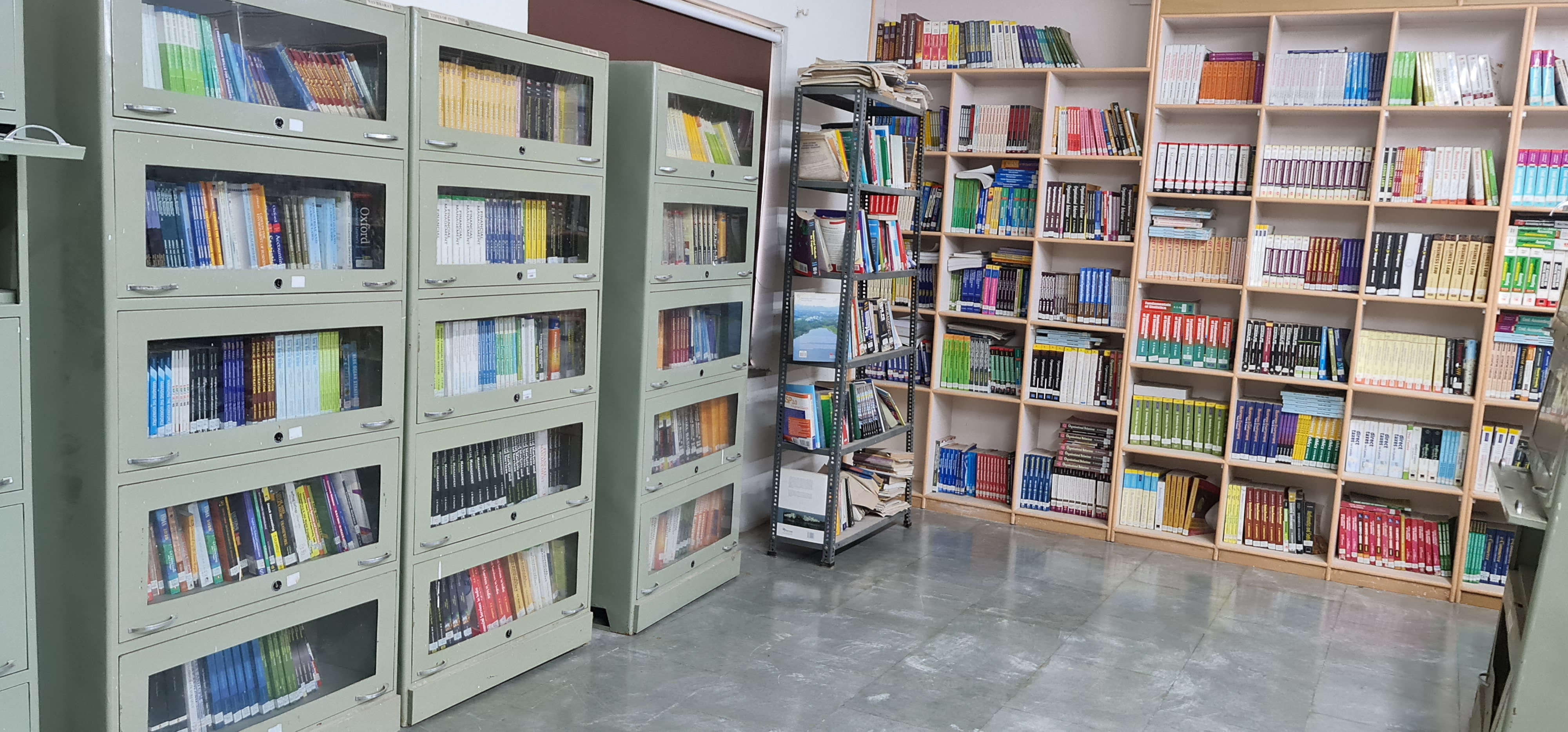Library with reference books, journals