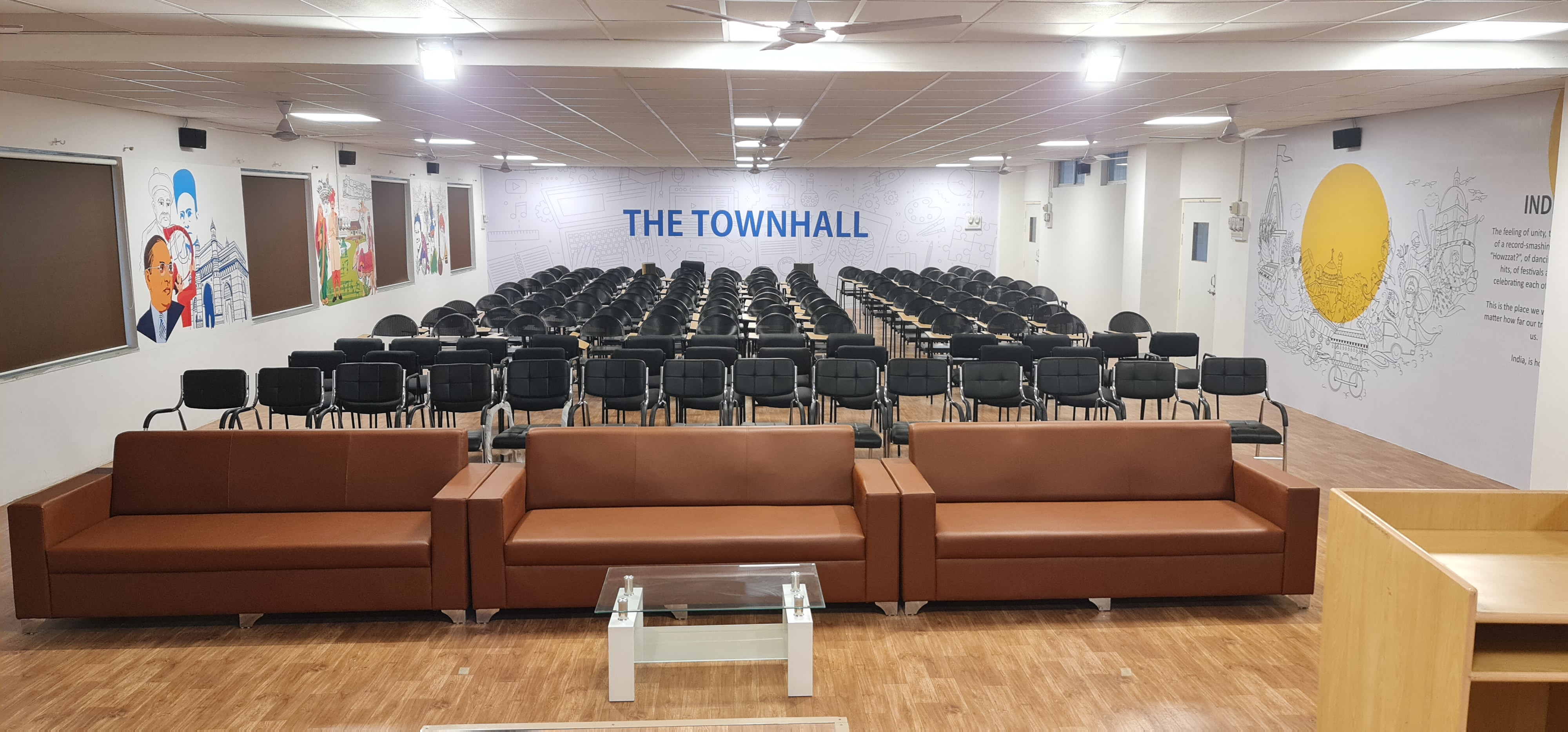 The Town hall for seminars in International School of Management Studies, one of the best MBA colleges in Pune